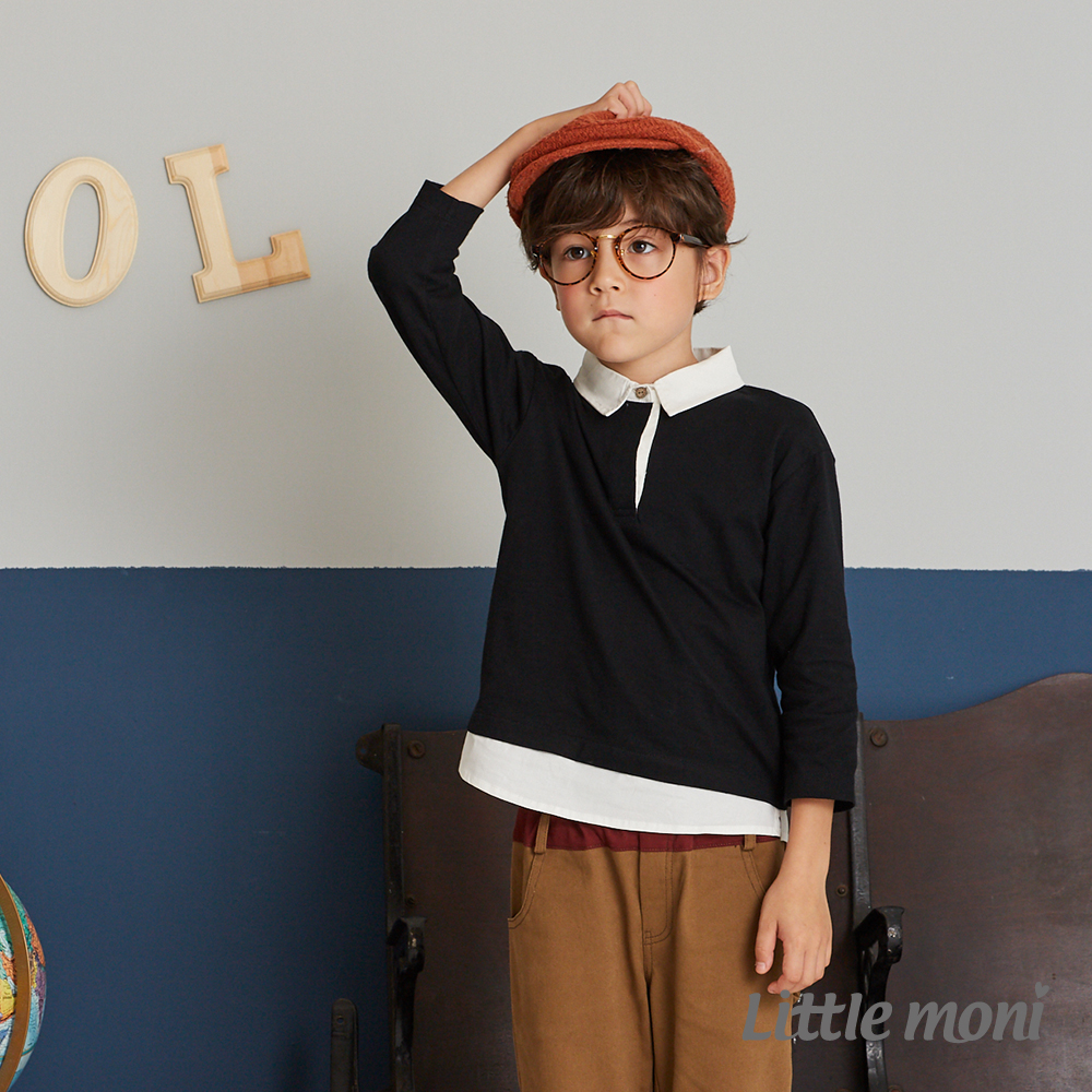 Little moni 學院風假兩件上衣 (2色可選)