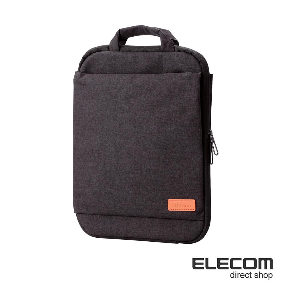 ELECOM 帆布薄型手提收納袋13.3吋-黑