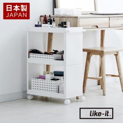 【日本like-it】開架式隙縫收納置物推車(寬25.5cm)