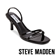 STEVE MADDEN-LOFT 名人簡約風二字細帶中跟涼鞋-黑色 product thumbnail 1