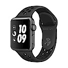 Apple Watch Nike+ (GPS) 38mm太空灰色鋁金屬錶殼+黑色Nike錶帶