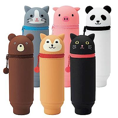 LIHIT LAB. 功能筆袋系列 A7712 多功能圓型筆袋動物造型