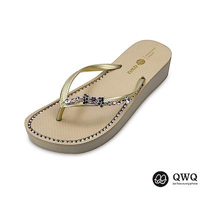 QWQ質感綴飾蝴蝶鑲結-金款
