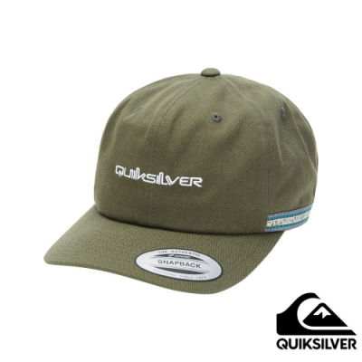 【QUIKSILVER】THE GREAT TAPER 棒球帽 軍綠
