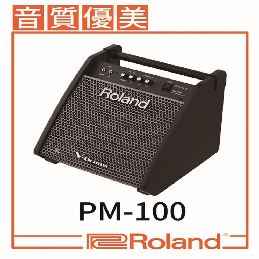 【ROLAND樂蘭】PM-100★監聽音箱80瓦 / 內建混音功能 贈導線★公司貨保固
