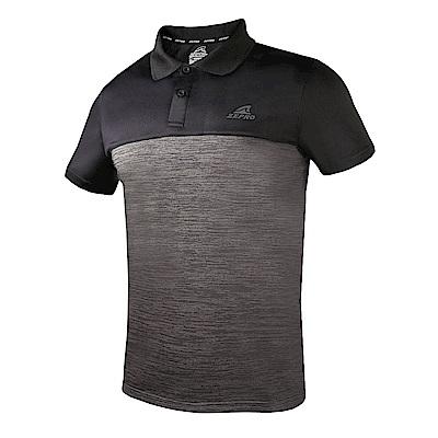 【ZEPRO】男子拼接流行銀離子運動休閒POLO上衣-鐵灰