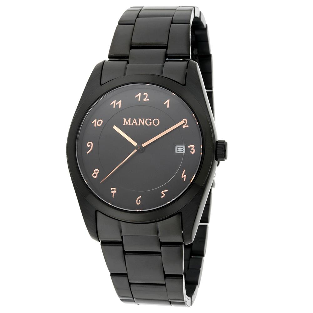 MANGO 日常時尚日期腕錶-黑/36mm