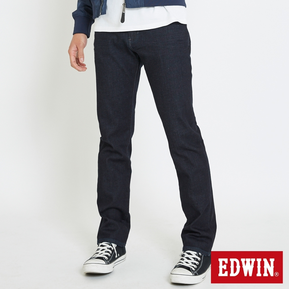 EDWIN 503 大尺碼 基本五袋式 直筒牛仔褲-男-原藍色