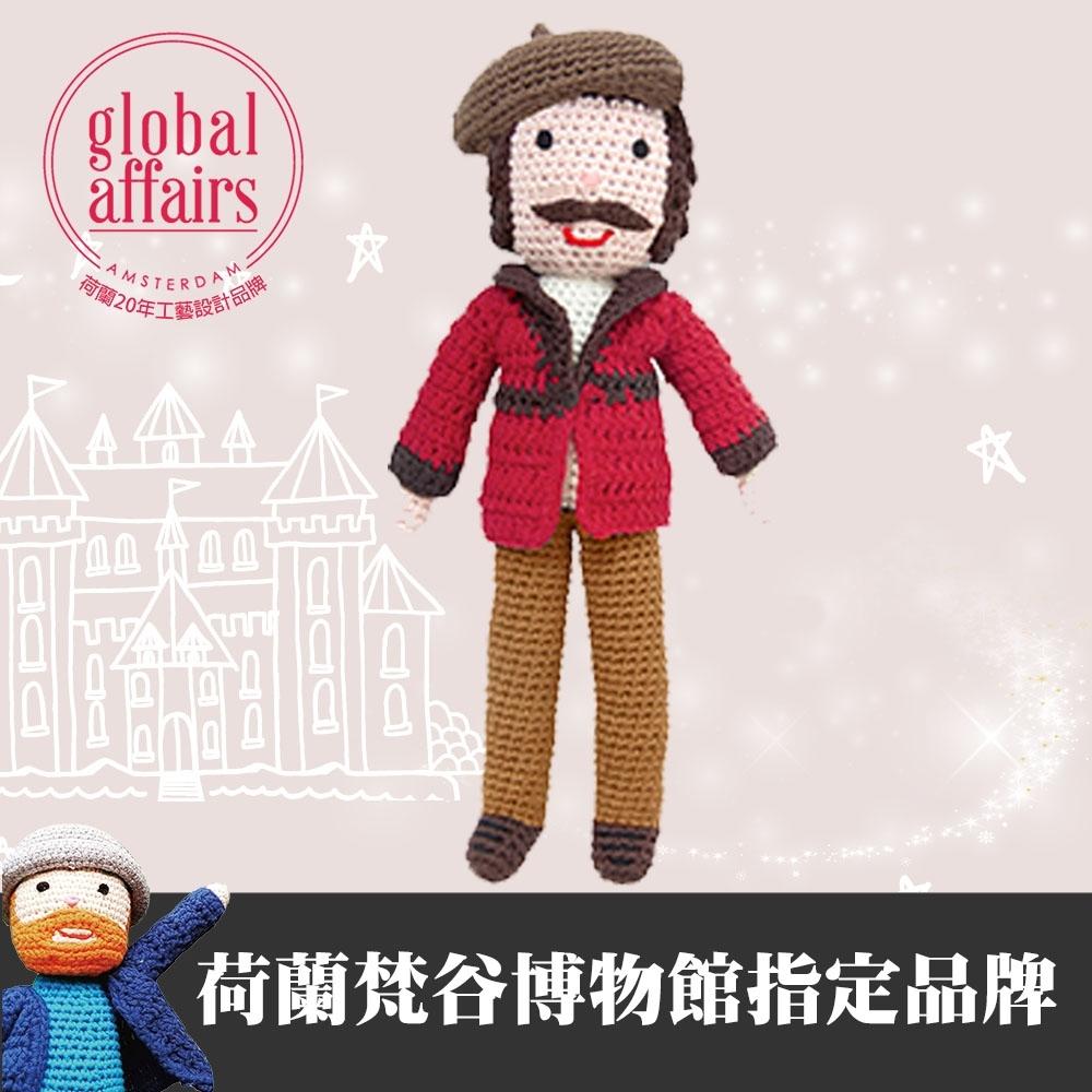 global affairs 大藝術家手工編織安撫玩偶(30cm)-林布蘭大師
