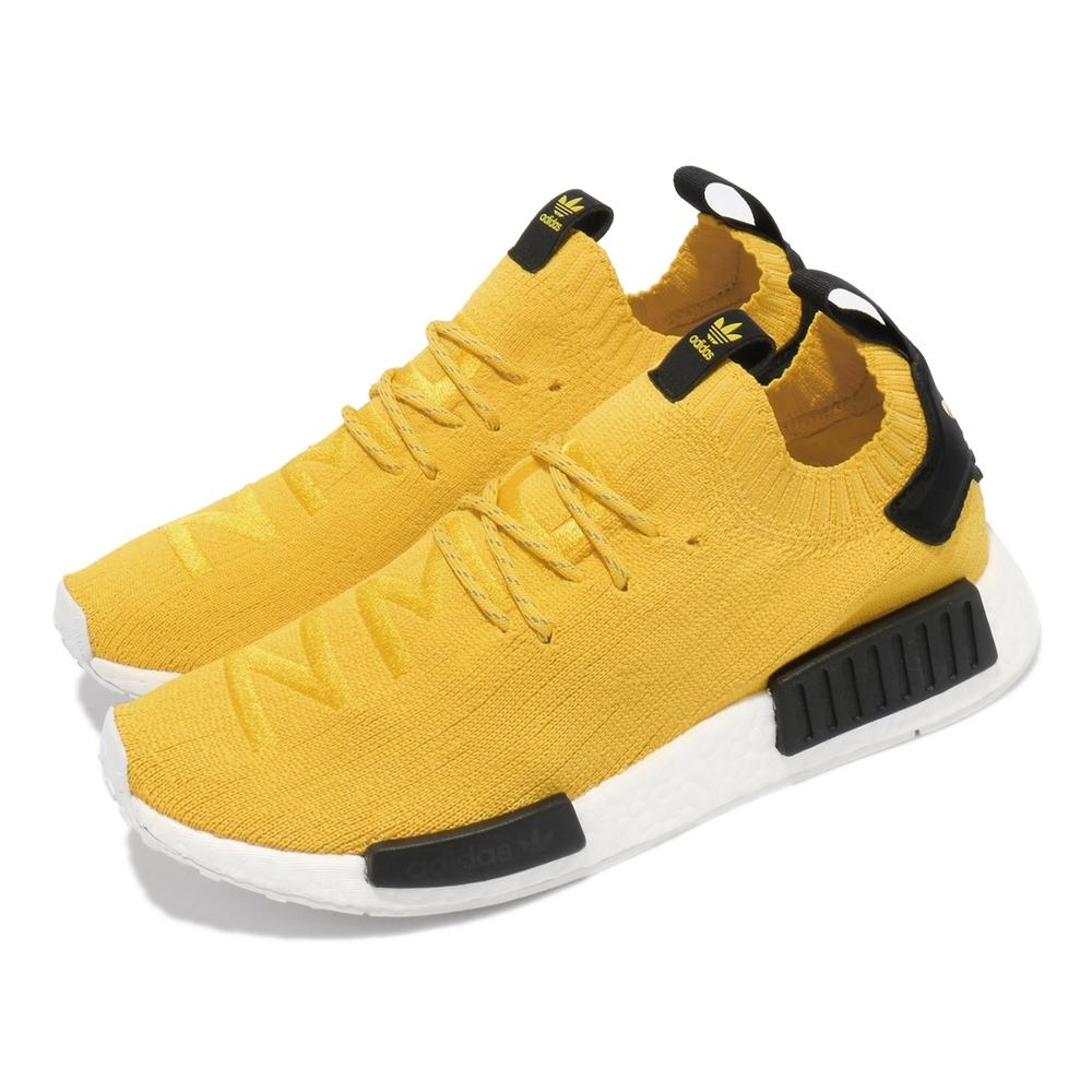 adidas 休閒鞋 NMD R1 PK 襪套 運動 男鞋 愛迪達 經典款 舒適 簡約 球鞋 穿搭 黃 黑 S23749