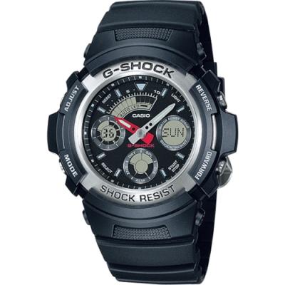 G-SHOCK 標準指針數位雙重顯示手錶-黑(AW-590-1A)/27mm