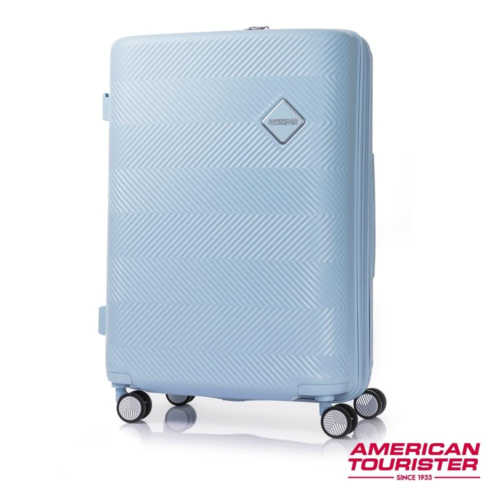 AT美國旅行者 24吋Groovista 霧面耐磨吸震PC硬殼行李箱(粉藍)