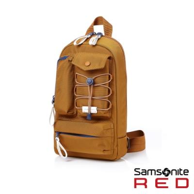 (6/1 10:00 ~6/21 10:00 送超贈點300) Samsonite RED MIRRE 時尚造型斜肩包(米)