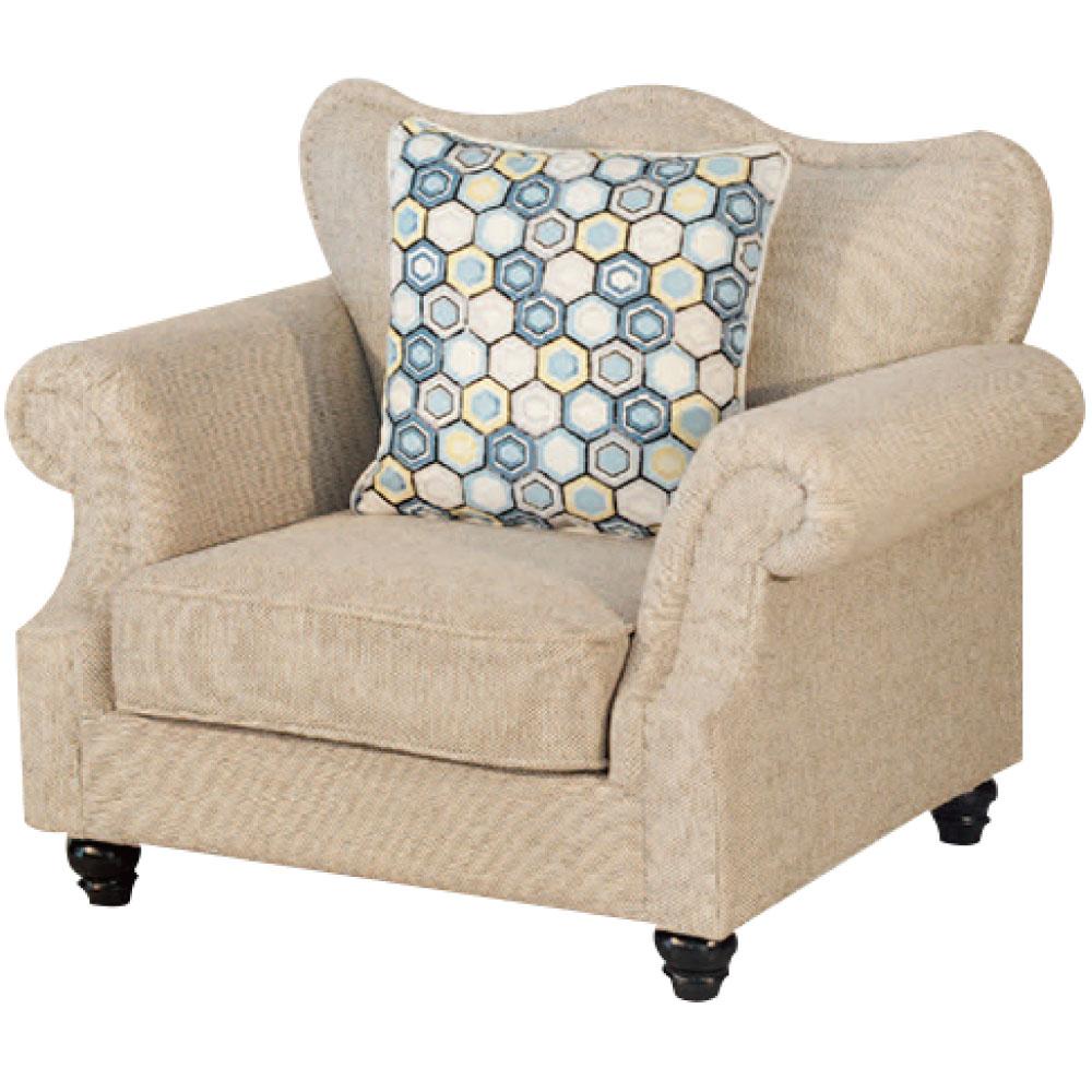 綠活居 尼加時尚亞麻布單人座沙發椅-103x85x86cm免組