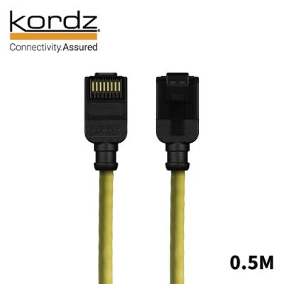 Kordz PRO CAT6 28AWG極細高速網路線 黃 0.5m