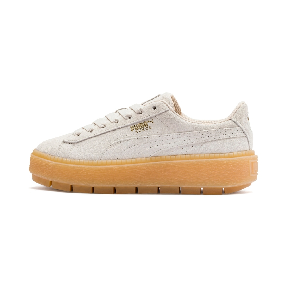 PUMA-Platform Trace 女性復古休閒鞋-輕柔粉