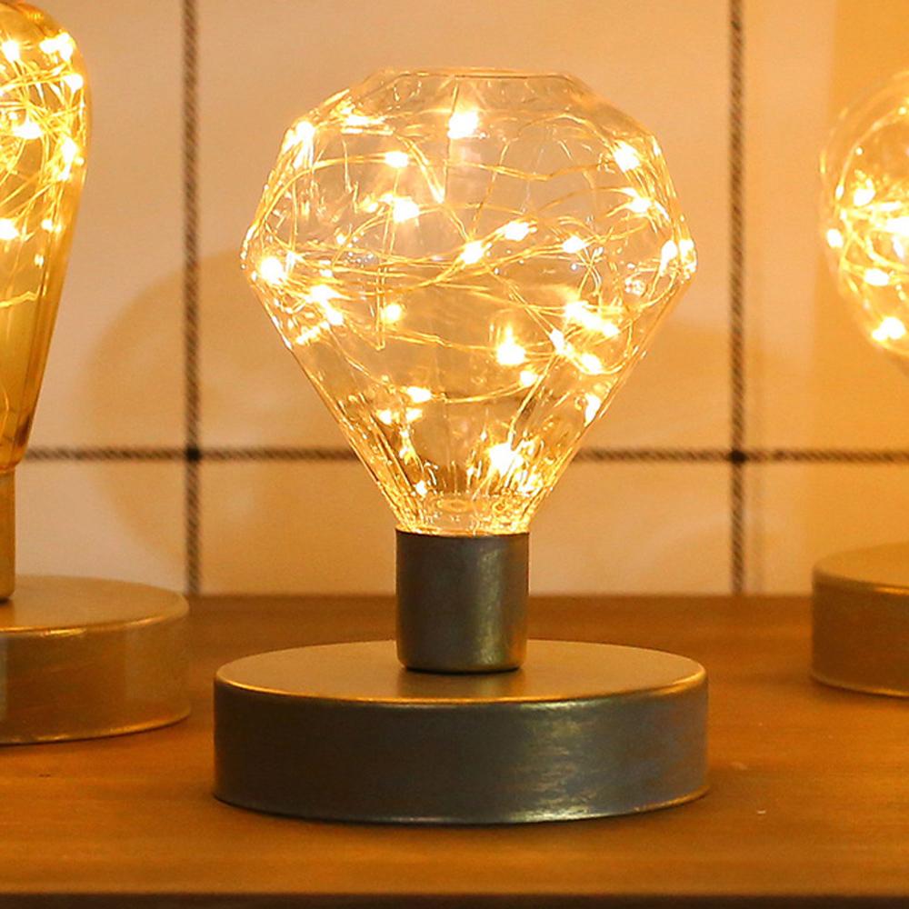 iSFun 永恆鑽石 USB螢火星光銅線桌燈