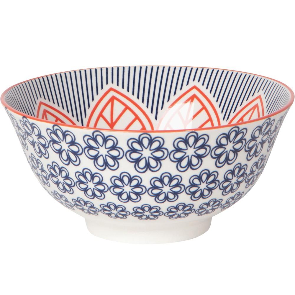 《NOW》圖騰餐碗(繁花藍)