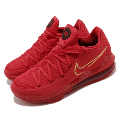 Nike 籃球鞋 LeBron XVII PH EP 男鞋 17代 低筒 小皇帝 氣墊 避震 紅 金 CD5009600