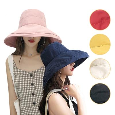 [時時樂限定]幸福揚邑 抗UV大帽檐氣質百搭好收納遮陽帽