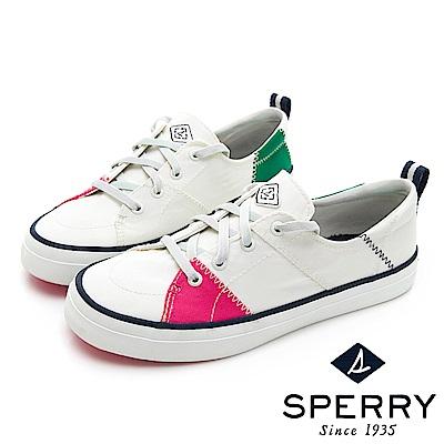 SPERRY BIONIC 撞色縫線拼接休閒鞋(女)-白色