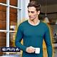 豪門PROMAN速熱暖絨圓領長袖衫-外搭帥氣又保暖-M1850-普魯士藍 product thumbnail 1