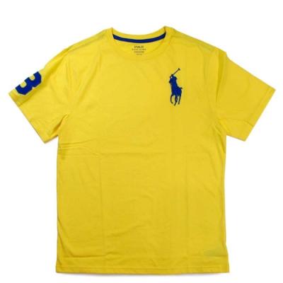 Polo Ralph Lauren 大馬Logo綠洲黃色3號馬球短袖圓領棉T