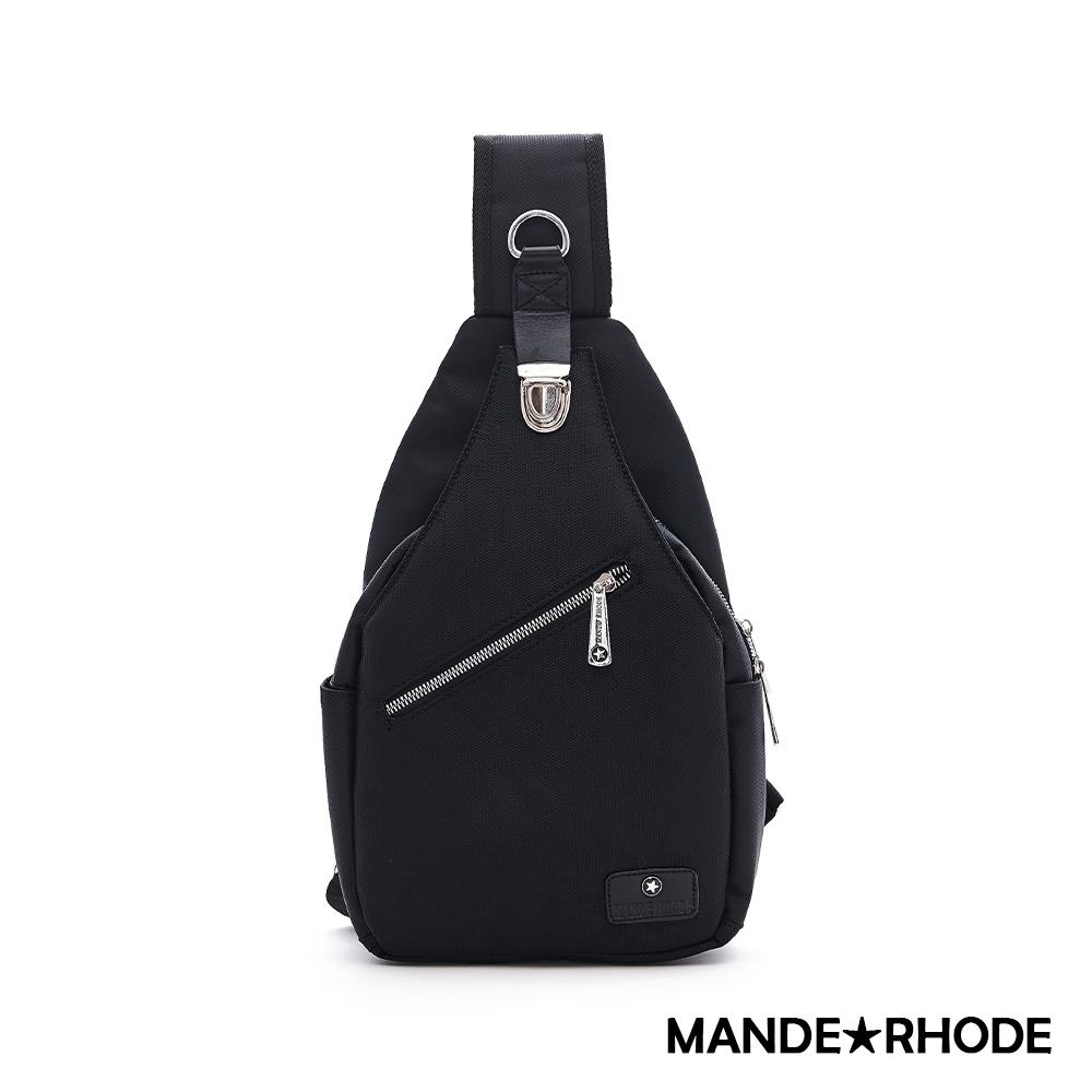 MANDE RHODE - 普徠德 - 美系潮男風格插扣單肩胸包 - 格紋黑【P320-A】