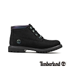 Timberland 男款黑色磨砂革金屬感休閒鞋|A24KH