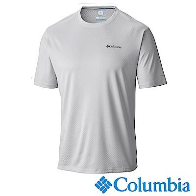 Columbia哥倫比亞 男-防曬30涼感快排短袖上衣白色 UAE60840WT