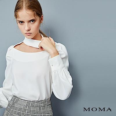 (網路獨賣)MOMA領口Choker上衣