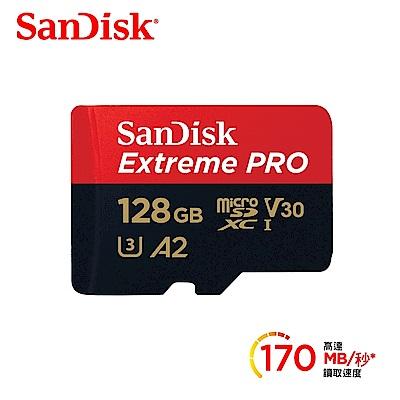 SanDisk PRO microSDXC A2 U3 128G  記憶卡