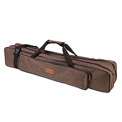 NOMADE 加厚雙層牛津布營柱收納袋 營柱袋 裝備袋 工具袋箱(咖)