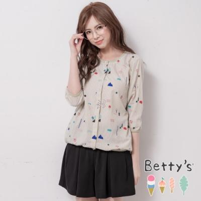 betty's貝蒂思 素色壓摺輕薄短褲(黑色)