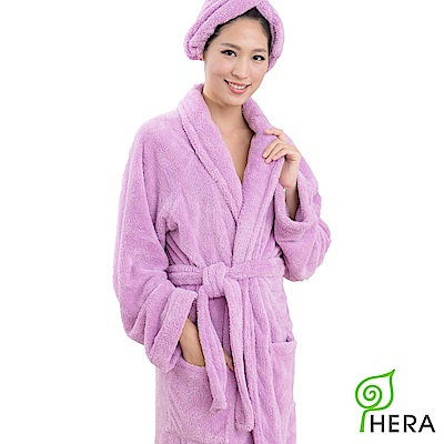 HERA 3M專利瞬吸快乾抗菌超柔纖浴袍-薰衣紫