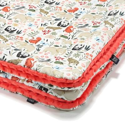 La Millou 暖膚豆豆毯(加大款)-La Millou動物園-粉橘小太陽