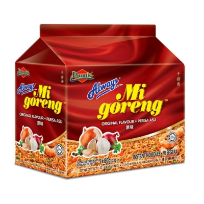 馬來西亞 Always-原味乾撈麵(經濟包) 80gx5包