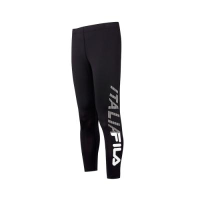 FILA 男抗UV吸濕排汗合身長褲-黑 1PNT-5303-BK