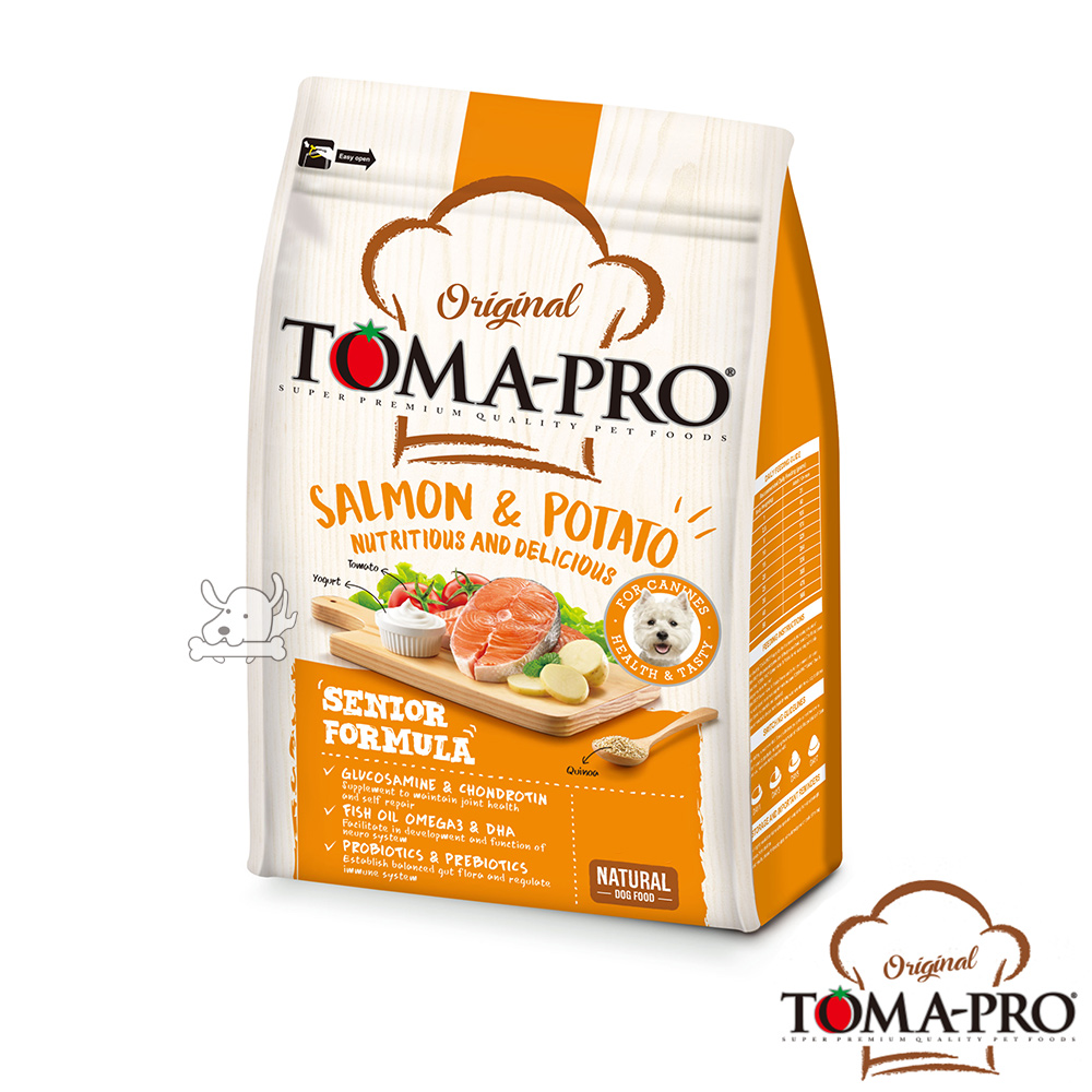 TOMA PRO 優格 熟齡養生 鮭魚馬鈴薯 高齡犬 飼料 7公斤