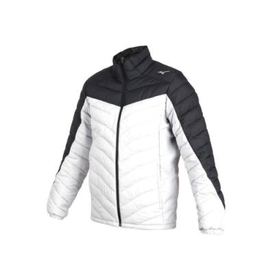 MIZUNO 男防潑水保暖外套-立領外套 鋪棉外套 保溫 美津濃 淺灰黑