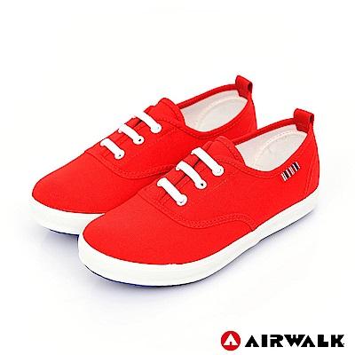 【AIRWALK】百搭經典帆布鞋-童款-紅色