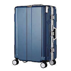 日本LEGEND WALKER 6720-62-25吋 發光圓環把手行李箱 歐洲藍
