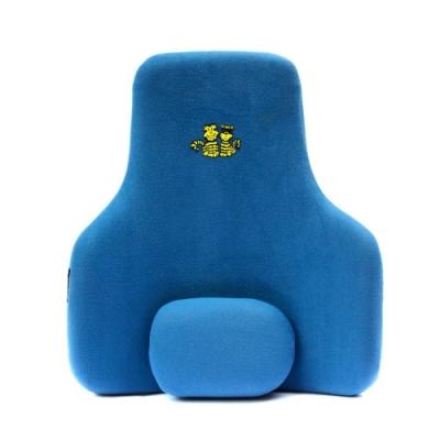 弧形雙效椅背墊 藍