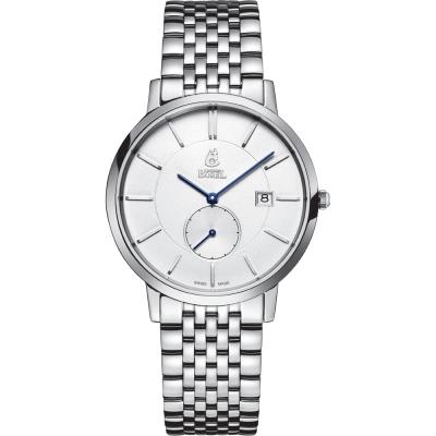 ERNEST BOREL 瑞士依波路錶 喬斯系列 不鏽鋼小秒針-銀色37mm