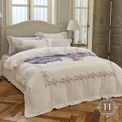 HOYA H Series巴黎風尚 雙人四件式300織長纖細棉被套床包組