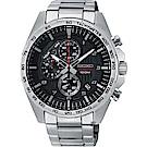 SEIKO精工 CS 重裝計時手錶(SSB319P1)-黑x銀/44mm