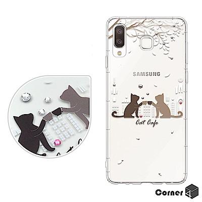 Corner4 Samsung Galaxy A8 Star奧地利彩鑽防摔手機殼...
