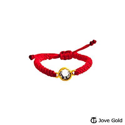 Jove gold 愛圓滿黃金編織繩戒指