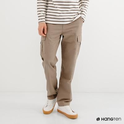 Hang Ten-男裝-REGULAR FIT附腰帶工作褲-卡其色