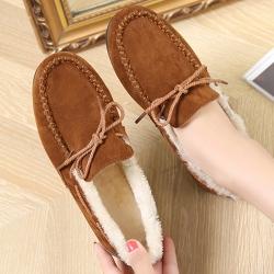 KEITH-WILL時尚鞋館 優雅氣質蝴蝶休閒鞋-棕色